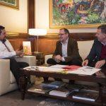 El alcalde de Sta. Magdalena se reúne con el presidente de la Diputación