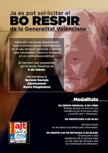 Abierto el plazo para solicitar el Bono Respiro de la Generalitat Valenciana