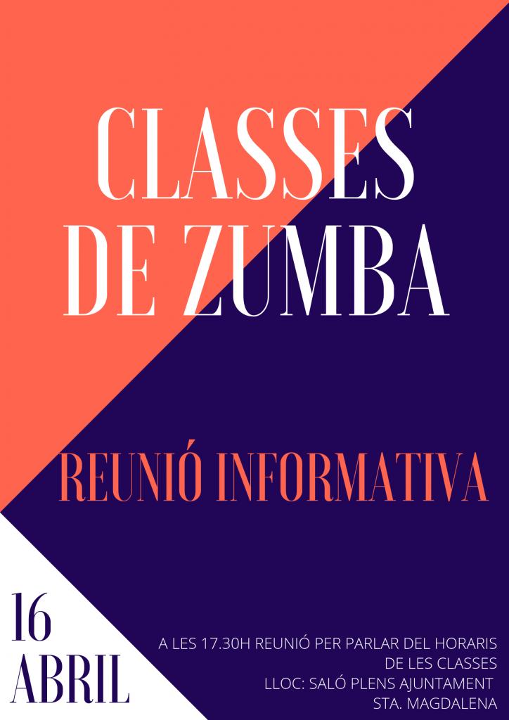 CLASSES DE ZUMBA