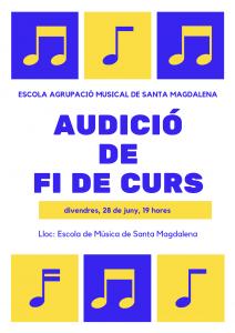 La Escuela de Música de Santa Magdalena realiza este viernes su Audición de Fin de Curso