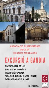 La Asociación de Amas de Casa de Santa Magdalena organiza una excursión a Gandía