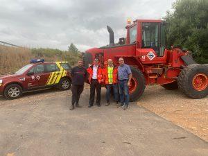 Las máquinas de la Diputación inician los trabajos de reparación de caminos en Santa Magdalena