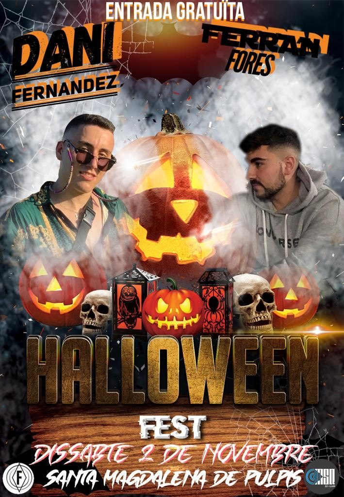 Cartel de Halloween Fest en Santa Magdalena