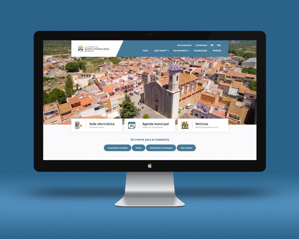Imagen de la nueva página web