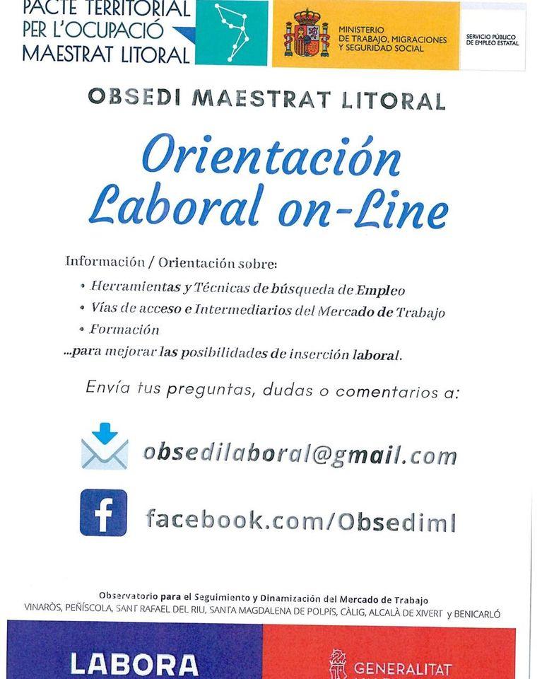 El Obsedi Maestrat Litoral pone en marcha orientación laboral on line