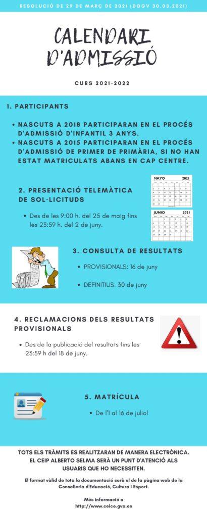 El CEIP Albert Selma de Santa Magdalena abrirá el proceso de admisión para el próximo curso el día 25 de mayo